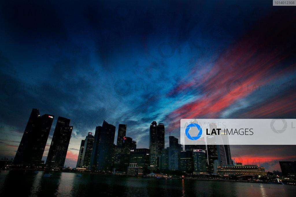 Marina Bay Circuit, Singapore. 18th September 2013. The cityscape of Singapore. World Copyright: Steven Tee/LAT Photographic. ref: Digital Image _L0U0343