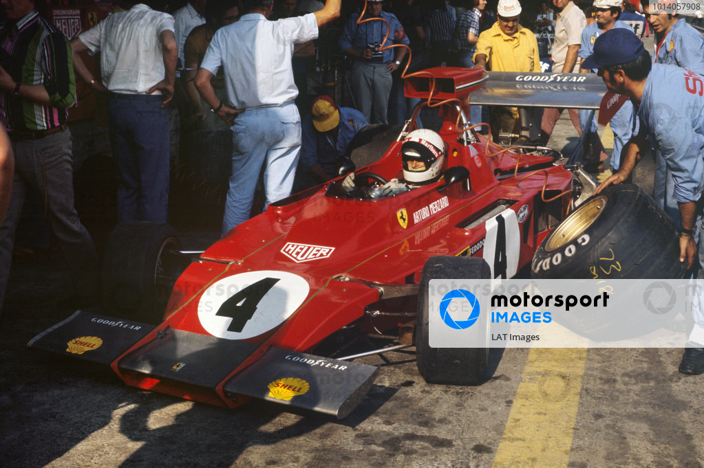 1973 Austrian Grand Prix.  Osterreichring, Austria. 17-19th August 1973.  Arturo Merzario, Ferrari 312B3, in the pits.  Ref: 73AUT28. World Copyright: LAT Photographic