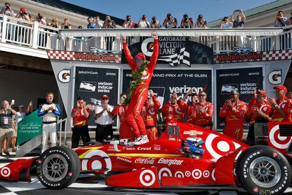 2-4 September, 2016, Watkins Glen, New York USA Scott Dixon celebrates in victory lane ?2016, Michael Levitt LAT Photo USA