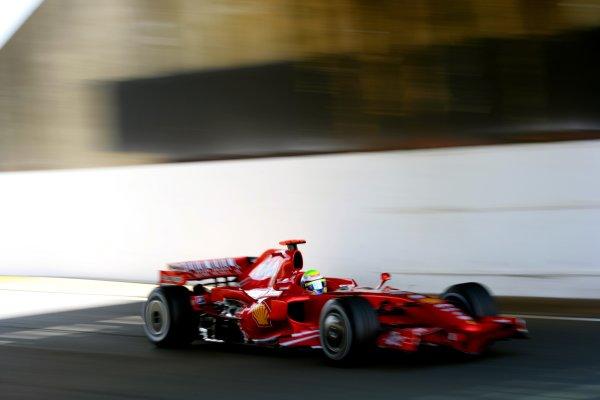 2007 British Grand PrixSilverstone, Northamptonshire, England.6th - 8th July 2007.Felipe Massa, Ferrari F2007. Action.World Copyright: Lorenzo Bellanca/LAT Photographicref: Digital Image ZD2J8399