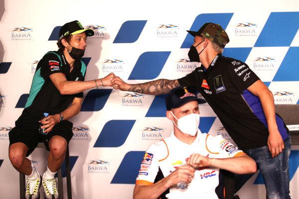 Valentino Rossi, Petronas Yamaha SRT, Fabio Quartararo, Yamaha Factory Racing.