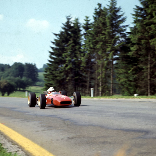 1967 Belgian Grand Prix.Spa-Francorchamps, Belgium.16-18 June 1967.Michael Parkes (Ferrari 312).Ref-3/0119.World Copyright - LAT Photographic