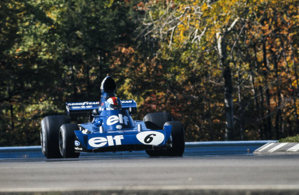 Francois Cevert, Tyrrell 006 Ford, in practice before his fatal accident.