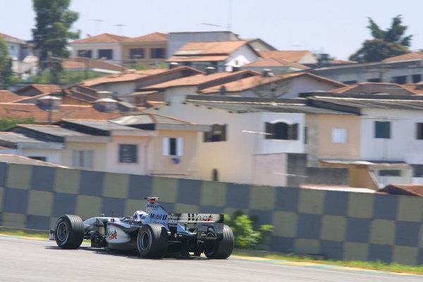 2002 Brazilian Grand Prix - Friday PracticeInterlagos, Sao Paulo. 29th March 2002David Coulthard (McLaren MP4/17 Mercedes). World Copyright - LAT Photographicref: Digital File Only