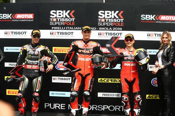 Jonathan Jonathan Rea, Kawasaki Racing Team, Chaz Davies, Aruba.it Racing-Ducati Team, Alvaro Bautista, Aruba.it Racing-Ducati Team.
