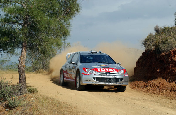 World Rally Championship, Cyprus Rally, April 18-21, 2002.Marcus Gronholm during shakedownPhoto: Ralph Hardwick/LAT