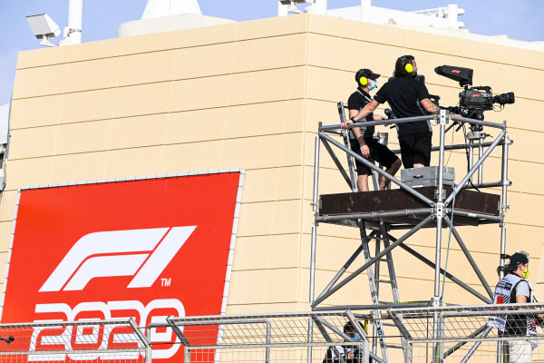 Camera man filming the F2 Podium