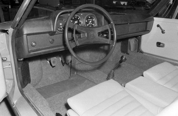 Porsche 914 cockpit.