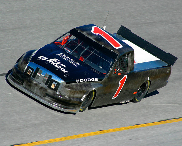 2003 NASCAR Craftsman Truck TestingDaytona, Florida, USA. 12th January 2003.Ted Musgrave (Dodge Mopar Ultra Motorsports), action.World Copyright: Greg Aleck/LAT Photographicref: Digital Image Only