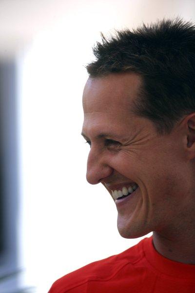 2006 Canadian Grand Prix - Saturday Practice Montreal, Canada. 22nd - 25th June. Michael Schumacher, Ferrari 248F1, 2nd position, portrait. World Copyright: Lorenzol Bellanca/LAT Photographic ref: Digital Image ZD2J5562
