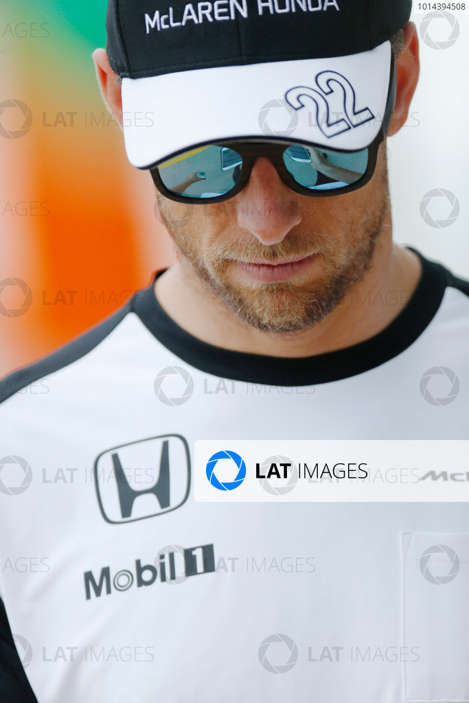 Silverstone Circuit, Northamptonshire, England. Friday 3 July 2015. Jenson Button, McLaren. World Copyright: Alastair Staley/LAT Photographic ref: Digital Image _79P0839