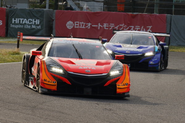 Tomoki Nojiri & Takuya Izawa ( #8  ARTA Honda NSX-GT), 1st in the GT500 class.