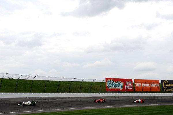 Tony Kanaan (BRA) Andretti Green Racing; Graham Rahal (USA) Newman Haas Lanigan Racing; Ryan Briscoe (AUS) Team Penske.IndyCar Series, Rd3, Road Runner Turbo 300, Kansas Speedway, Kansas, USA. 25-26 April 2009.