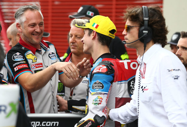 2017 Moto2 Championship - Round 6 Mugello, Italy Sunday 4 June 2017 Michael Bartholemy, Alex Marquez, Marc VDS World Copyright: Gold & Goose Photography/LAT Images ref: Digital Image 674771