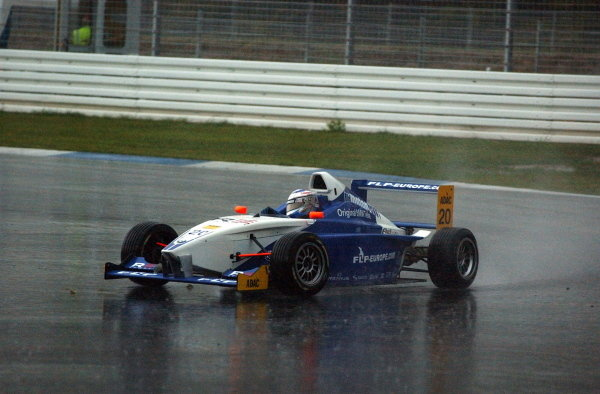 Maro Engel (GER), Eifelland racing, finished 2nd in the Sunray race which was held under extreme wet conditions.