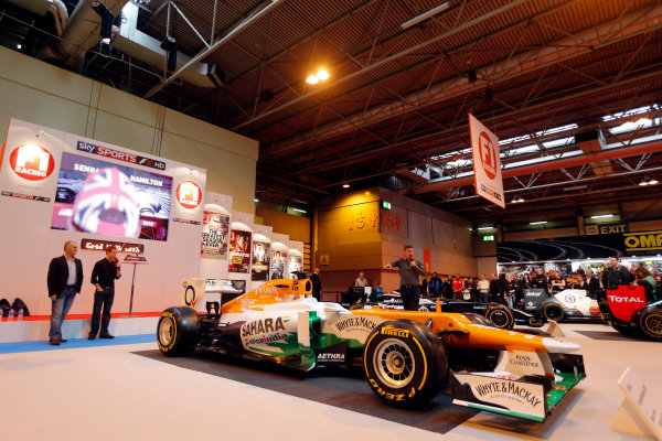 Autosport International Show NEC, Birmingham.  Saturday 12th January 2013. Johnny Herbert and Anthony Davidson on the F1 Racing display. World Copyright:Glenn Dunbar/LAT Photographic ref: Digital Image _89P2959
