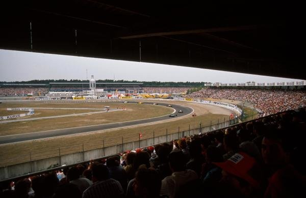 The view from the grandstand.