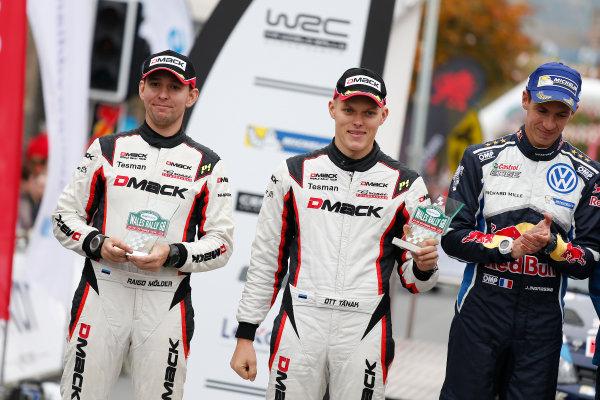 2016 FIA World Rally Championship, Round 13, Wales Rally GB 2016 October 27 - 30, 2016 Ott Tanak, Ford, podium  Worldwide Copyright: McKlein/LAT