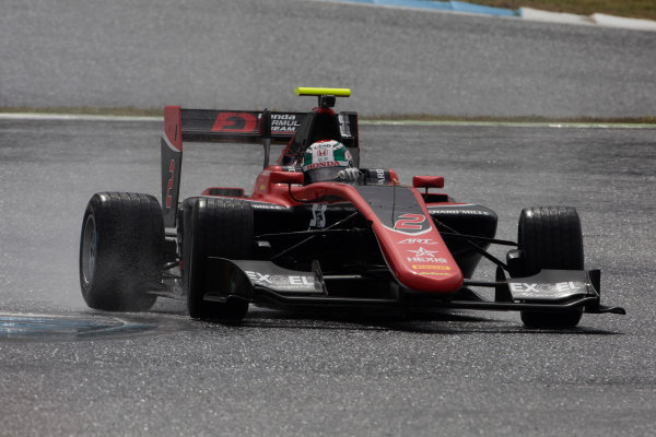 2017 GP3 Series Testing Estoril, Portugal. Wednesday 22 March 2017 Nirei Fukuzumi (JAP, ART Grand Prix). Action.  Photo: Alastair Staley/GP3 Series Media Service ref: Digital Image 585A1343