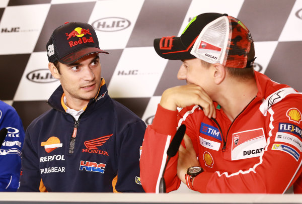 2017 MotoGP Championship - Round 5 Le Mans, France Thursday 18 May 2017 Dani Pedrosa, Repsol Honda Team, Jorge Lorenzo, Ducati Team World Copyright: Gold & Goose Photography/LAT Images ref: Digital Image 670404