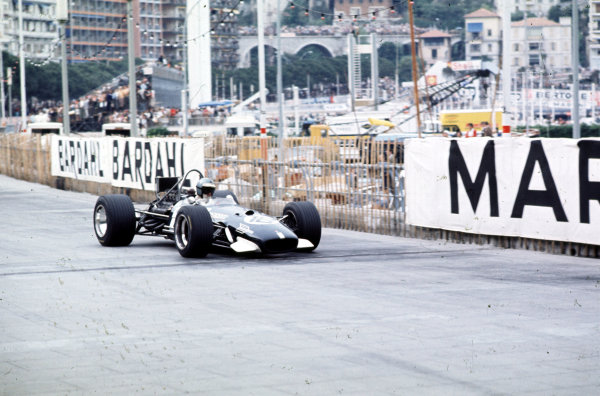 1969 Monaco Grand Prix. Monte Carlo, Monaco. 15-18 May 1969. Piers Courage (Brabham BT26A Ford) 2nd position. World Copyright - LAT Photographic