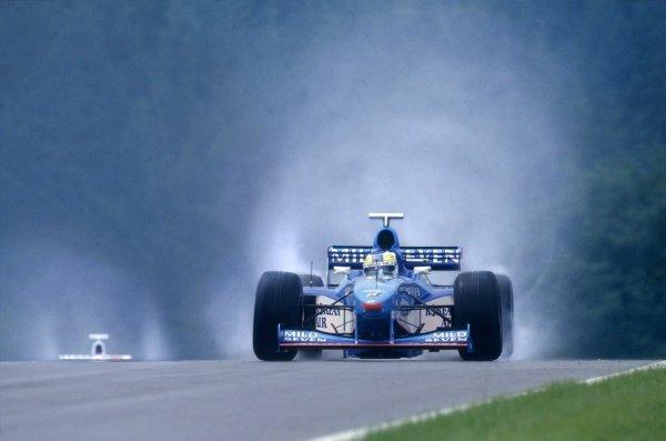 1998 Austrian Grand Prix.A1 Ring, Austria. 26 July 1998.Giancarlo Fisichella, Benetton B198-Mecachrome, retired, action.World Copyright: LAT PhotographicRef: 35mm transparency