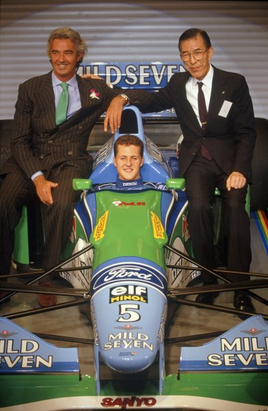 1994 Mild Seven Benetton sponsorship launch.