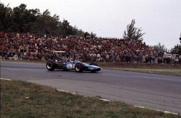 1968 United States Grand Prix.Watkins Glen, New York, USA.4-6 October 1968.Jackie Stewart (Matra MS10 Ford) 1st position.Ref-68 USA 49.World Copyright - LAT Photographic