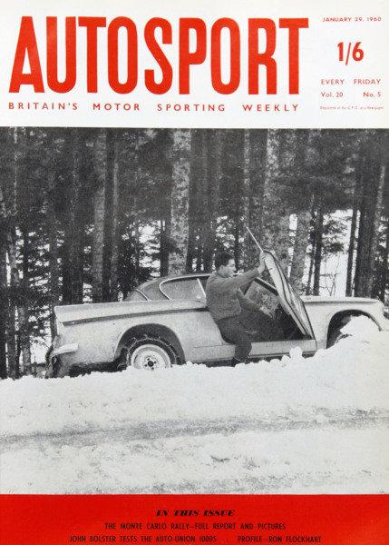 Cover of Autosport magazine, 29th January 1960