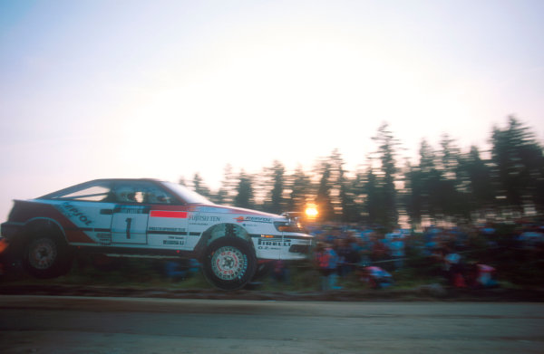 1991 FIA World Rally Championship.1000 Lakes Rally, Finland.22-25 August 1991.Carlos Sainz/Luis Moya (Toyota Celica GT4 ST165) 4th position.World Copyright - LAT Photographic