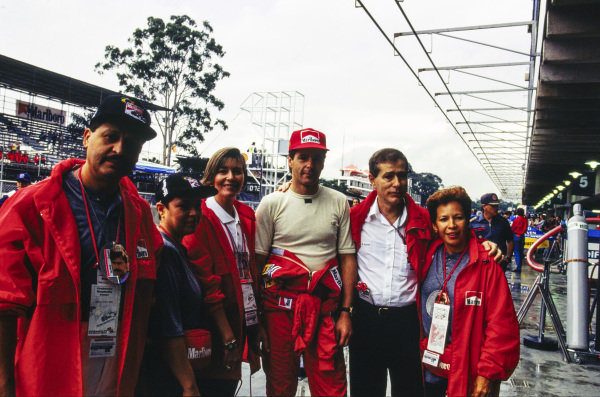 Gerhard Berger in the pits.