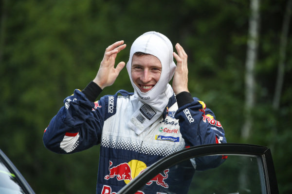 Elfyn Evans, the WRC's flying Welshman, is all smiles before Rally Finland