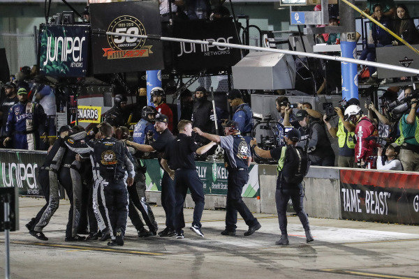 #2: Tyler Reddick, Richard Childress Racing, Chevrolet Camaro TAME the BEAST team celebration