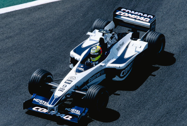 2000 French Grand Prix.Magny-Cours, France. 30/6-2/7 2000.Ralf Schumacher (Williams FW22 BMW) 5th position.Ref-2K FRA 74.World Copyright - Gavin Lawrence/LAT Photographic