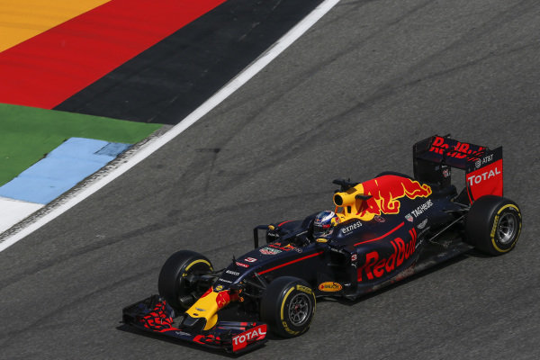 Daniel Ricciardo (AUS) Red Bull Racing RB12 at Formula One World Championship, Rd12, German Grand Prix, Practice, Hockenheim, Germany, Friday 29 July 2016.