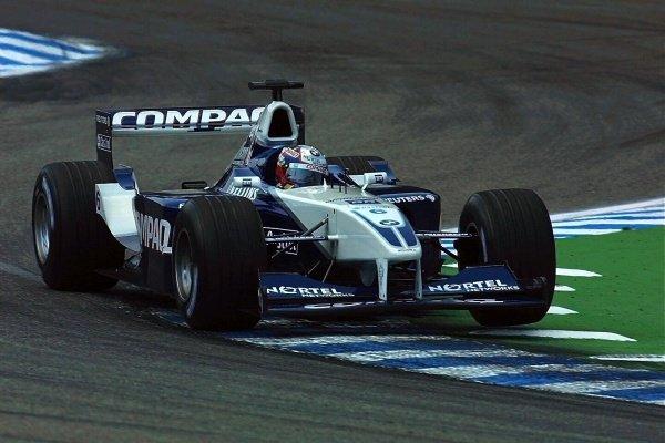 Juan Pablo Montoya(COL) BMW Williams FW23 German Grand Prix Practice, Hockenheim 27 July 2001 DIGITAL IMAGE