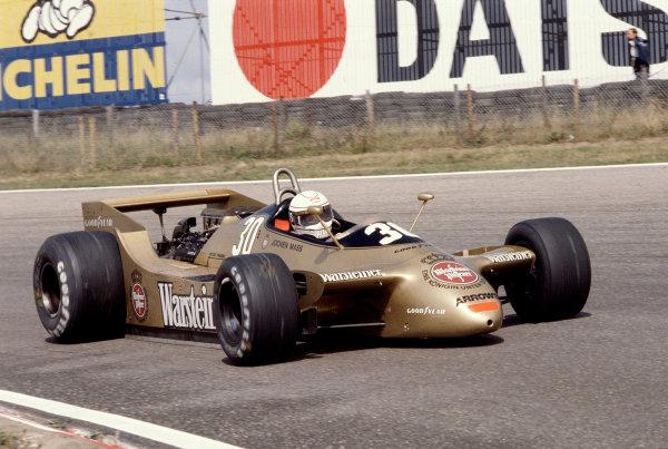 1979 Dutch Grand Prix.Zandvoort, Holland.24-26 August 1979.Jochen Mass (Arrows A2 Ford) 6th position.Ref-79 HOL 07.World Copyright - LAT Photographic