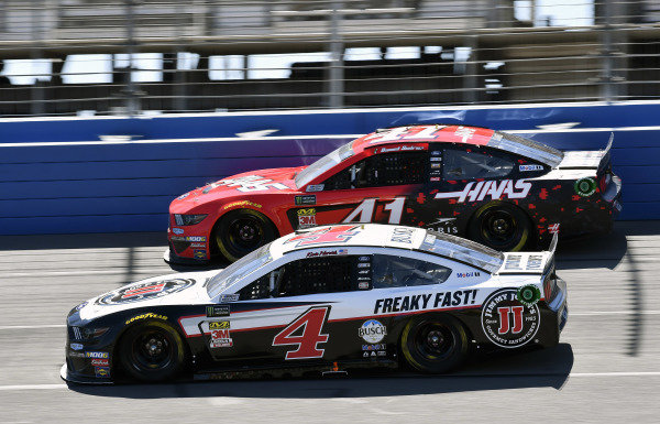 #4: Kevin Harvick, Stewart-Haas Racing, Ford Mustang Jimmy John's and #41: Daniel Suarez, Stewart-Haas Racing, Ford Mustang Haas Automation