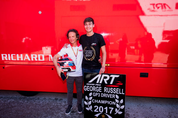 2017 GP3 Series Round 7.  Circuito de Jerez, Jerez, Spain. Sunday 8 October 2017. George Russell (GBR, ART Grand Prix).  Photo: Zak Mauger/GP3 Series Media Service. ref: Digital Image _56I7505