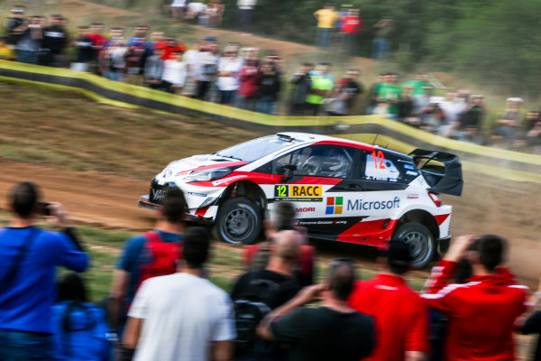 2017 FIA World Rally Championship, Round 11, Rally RACC Catalunya / Rally de España, 5-8 October, 2017, Esapekka Lappi, Toyota, action, Worldwide Copyright: LAT/McKlein