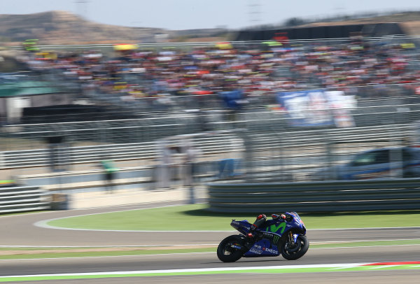 2017 MotoGP Championship - Round 14 Aragon, Spain. Saturday 1 January 2000 Maverick Viñales, Yamaha Factory Racing World Copyright: Gold and Goose / LAT Images ref: Digital Image 694235