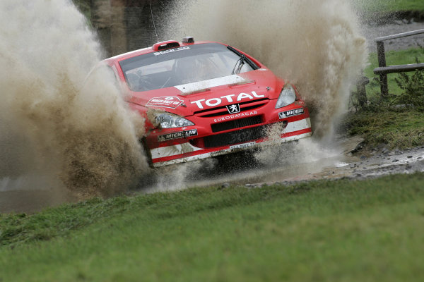 2004 FIA World Rally Champs. Round twelve, Wales Rally GB.16th- 19th September 2004.Harri Rovanpera, Peugeot,, action.World Copyright: McKlein/LAT