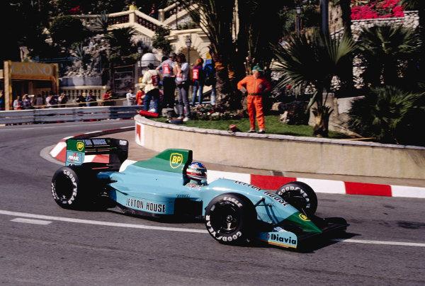 1991 Monaco Grand Prix.Monte Carlo, Monaco. 9-12 May 1991.Ivan Capelli (Leyton House CG911 Ilmor).Ref-91 MON 48.World Copyright - LAT Photographic