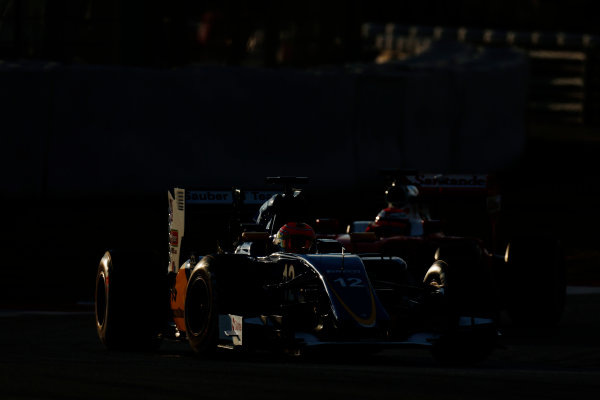 Circuit de Catalunya, Barcelona, Spain Thursday 25 February 2016. Felipe Nasr, Sauber C35 Ferrari. World Copyright: Alastair Staley/LAT Photographic ref: Digital Image _79P4830
