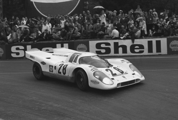 1970 Spa Francorchamps 1000 kms. Spa Francorchamps, Belgium. 17th May 1970. Rd 6. Vic Elford/Kurt Ahrens, Jr. (Porsche 917K), 3rd position, action.  World Copyright: LAT Photographic. Ref: 3078 - 5.