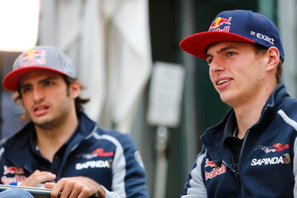 Sochi Autodrom, Sochi, Russia. Friday 29 April 2016. Max Verstappen, Toro Rosso. World Copyright: Andy Hone/LAT Photographic ref: Digital Image _ONZ7360