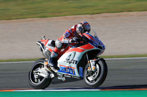2017 MotoGP Championship - Valencia test, Spain. Tuesday 14 November 2017 Andrea Dovizioso, Ducati Team World Copyright: Gold and Goose / LAT Images ref: Digital Image 706858