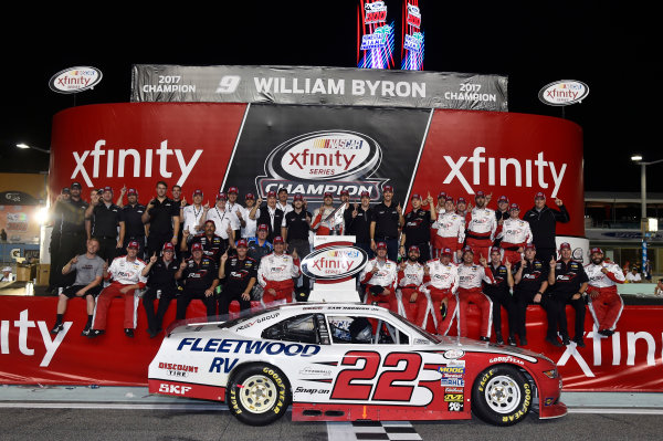 NASCAR XFINITY Series Ford EcoBoost 300 Homestead-Miami Speedway, Homestead, FL USA Saturday 18 November 2017 Team Penske celebrate winning the 2017 NASCAR Xfinity Series Owners Championship World Copyright: Nigel Kinrade LAT Images
