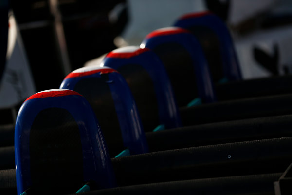 2014 GP3 Series. Round 8.   Sochi Autodrom, Sochi, Russia.  Thursday 9 October 2014. Jenzer Motorsport nose cones Photo: Sam Bloxham/GP3 Series Media Service. ref: Digital Image _SBL6179