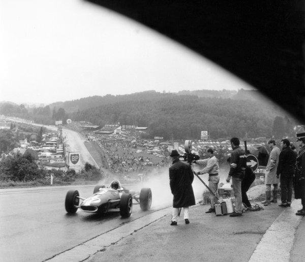 1966 Belgian Grand Prix.Spa-Francorchamps, Belgium. 12 June 1966.Dan Gurney, Eagle AAR101-Climax, not classified, action.World Copyright: LAT PhotographicRef: 34887